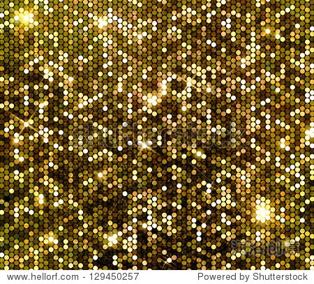 gold sparkle glitter background. glittering sequins wall.