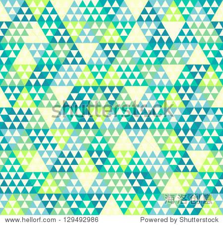 无缝矢量三角形几何菱形图案的背景