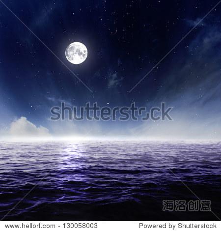 moonsky_full moon in night sky over moonlit water