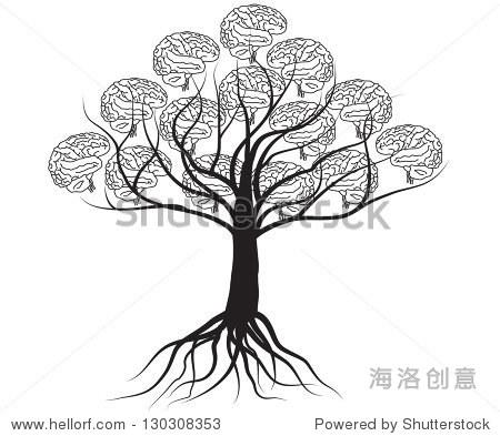 大脑的树,树的知识图片