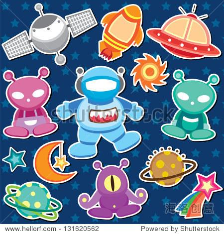 外太空卡通图片图片