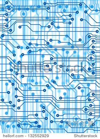 x射线印刷电路板电路为蓝色
