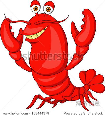 卡通可爱的龙虾