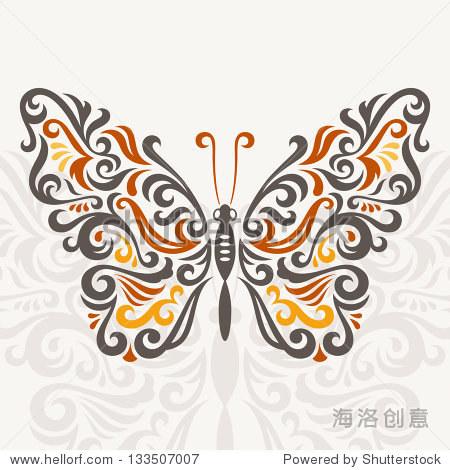 抽象的蝴蝶,矢量图