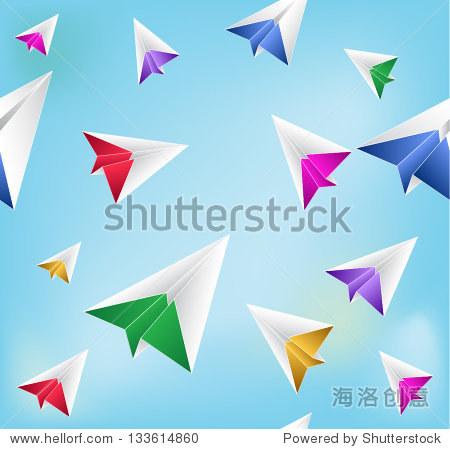 纸飞机.无缝的背景模式向量-背景/素材,符号/标志-,,.