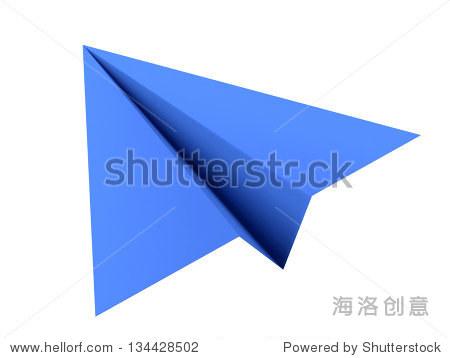 纸飞机在白色背景上-物体,符号/标志-海洛创意正版