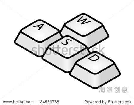 手绘键盘图片素材