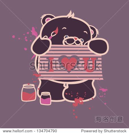 可爱的小熊-动物/野生生物
