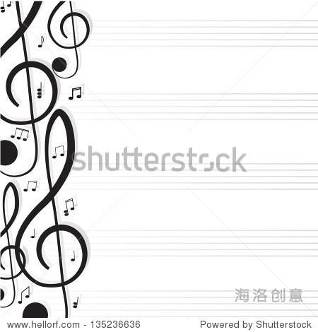 为你的设计的高音谱号 一个矢量插图 背景 素材,符号 标志 站酷海
