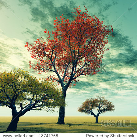 秋天的风景 - 插图/剪贴图,自然 - 站酷海洛创意正版