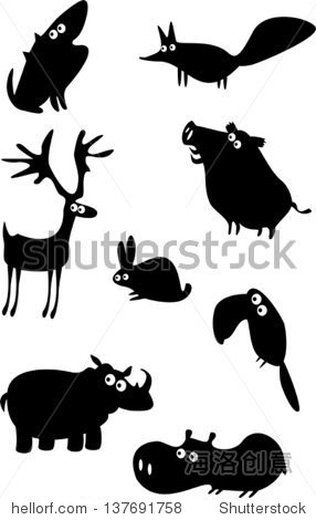 一系列有趣的动物