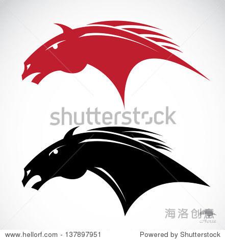 部落纹身的马头,矢量插图 - 动物/野生生物,自然