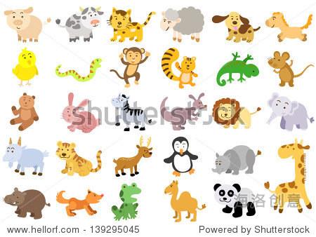 额外的大量的动物.eps8文件——简单的渐变,没有效果