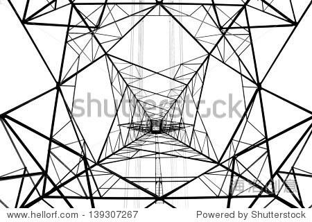 权力结构孤立在白色的