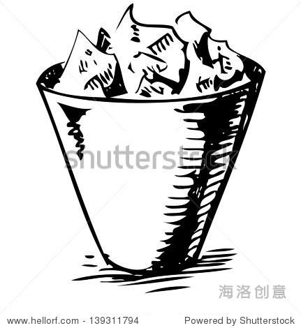 垃圾桶.手绘草图说明
