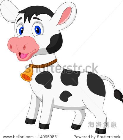 可爱的卡通牛