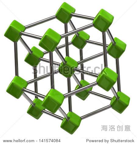 绿色的分子结构图标