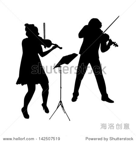 小提琴矢量图