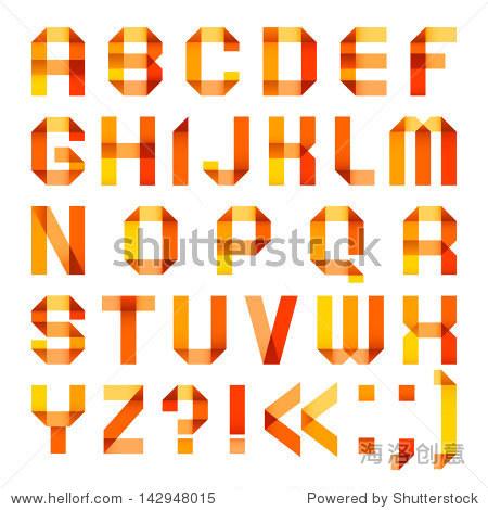 �zg>i*�iK�n标_of paper ribbon-orange - roman alphabet (a b c d e f g h i j k l