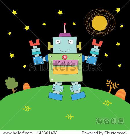 机器人卡通的理想未来