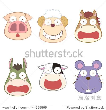 卡通动物的头戴式耳机