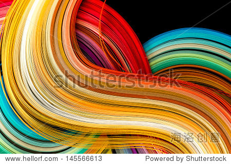 纸带在彩虹的颜色鲜艳的背景