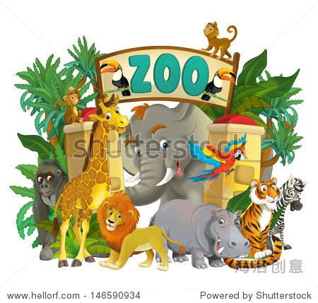 卡通动物园-游乐场儿童xxl文件