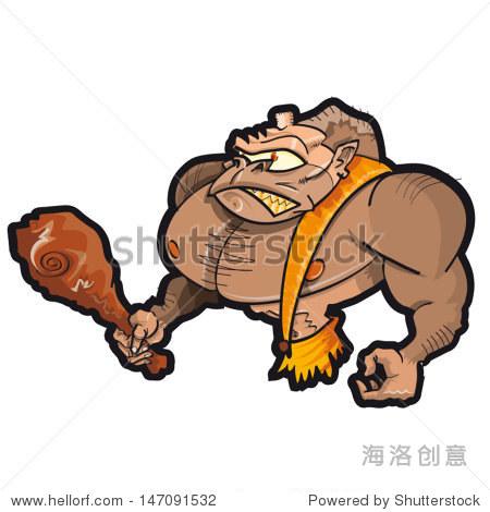 矢量图的大猩猩-动物/野生生物-海洛创意正版图片,,-.