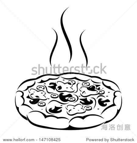 披萨怎么画简笔画图片