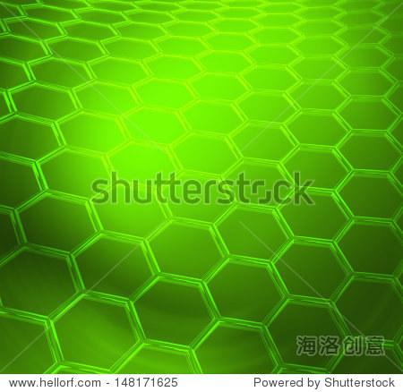 绿色文摘技术或科学的背景与石墨烯分子结构