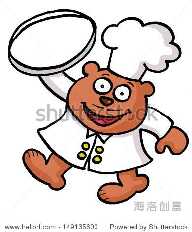 一个卡通熊厨师