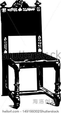 巴洛克风格的古董椅子