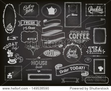 黑板的广告,包括框架,横幅
