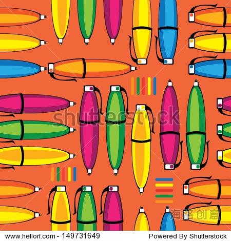 无缝模式彩色笔