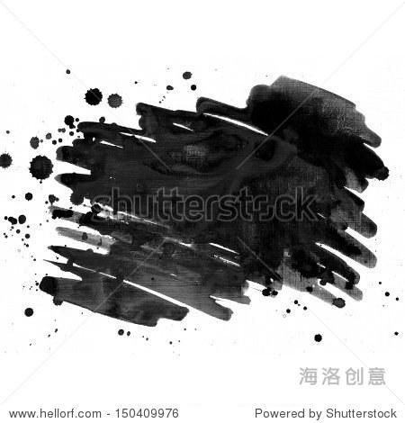 黑色水墨画蹩脚货纸纹理-背景/素材,抽象-海洛创意,,.