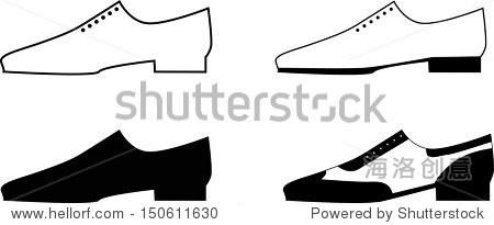 男人的鞋子.矢量图 - 物体,复古风格 - 站酷海洛创意