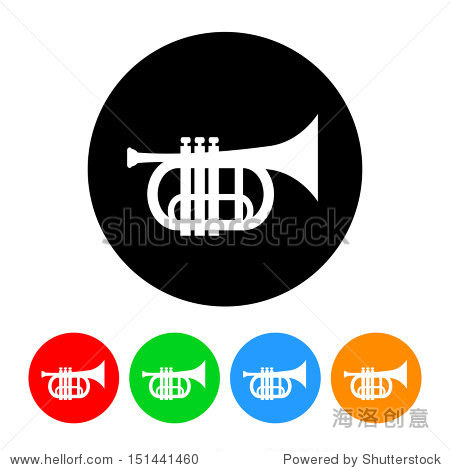 喇叭图标.矢量格式和颜色变化.
