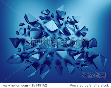 d文摘宝石蓝水晶的背景-背景/素材