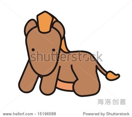 婴儿的可爱的马,动物朋友