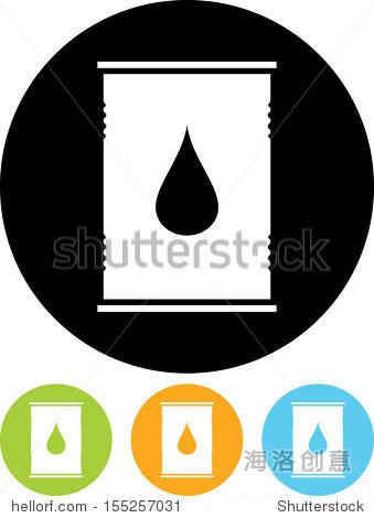 石油桶矢量图标