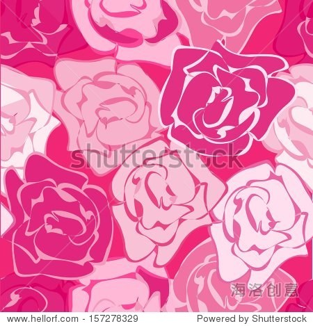 圈模式与抽象的玫瑰