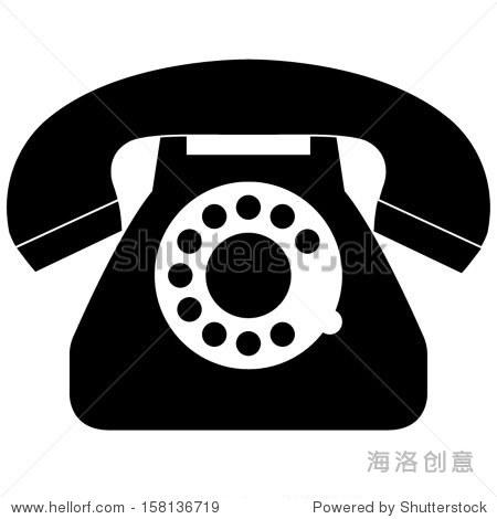 黑色的电话图标 - 科技,符号/标志 - 站酷海洛创意,,.