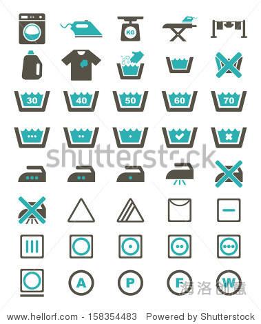 洗衣图标-颜色