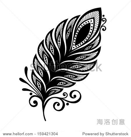 无与伦比的羽毛装饰,图案设计,纹身