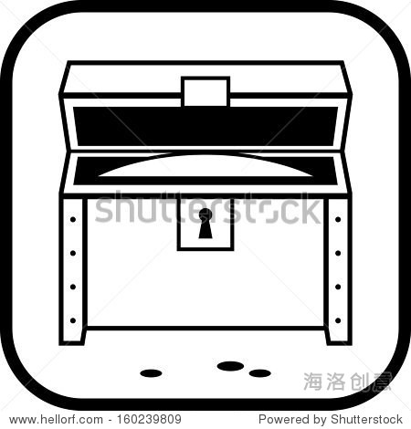 宝箱打开矢量图标孤立图片
