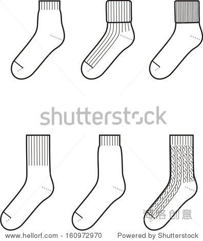 可爱袜子简笔画