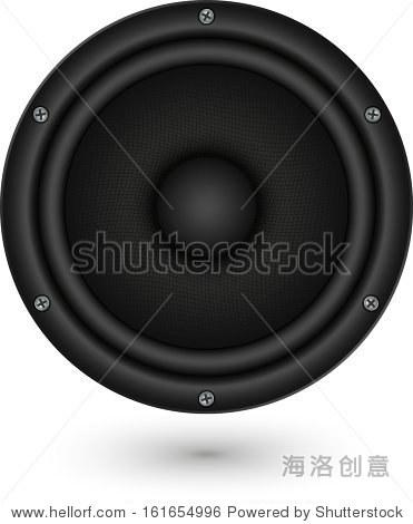 音频扬声器应用图标矢量图