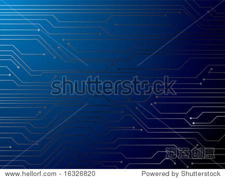 说明数字电路板的理想作为背景
