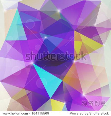 抽象的三角形几何五彩缤纷的背景
