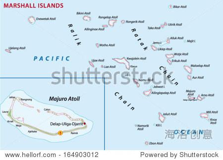 马绍尔群岛地图